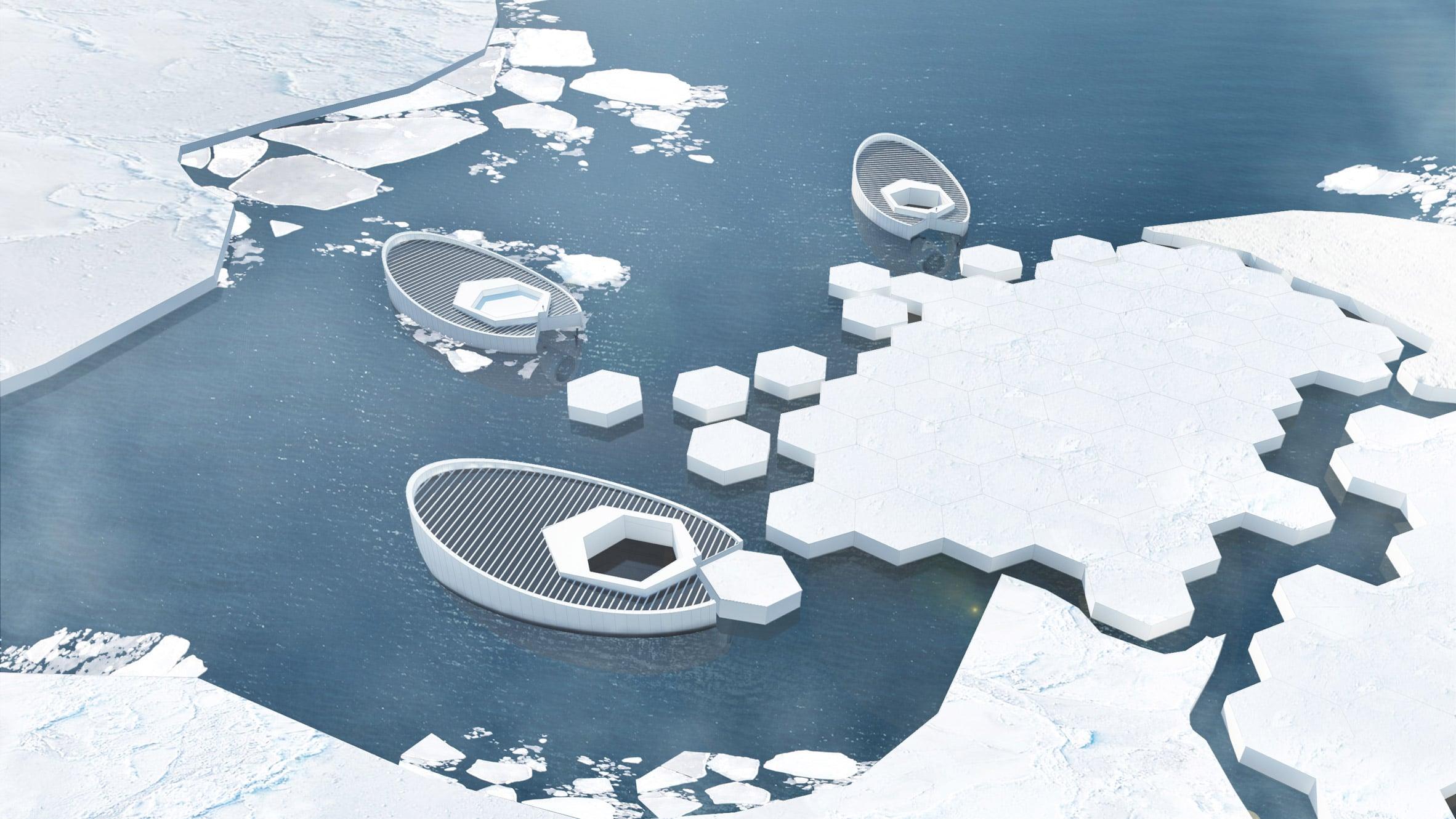 Küresel ısınmayı engelleyebilmek için buz kütleleri oluşturacak bir araç tasarlandı