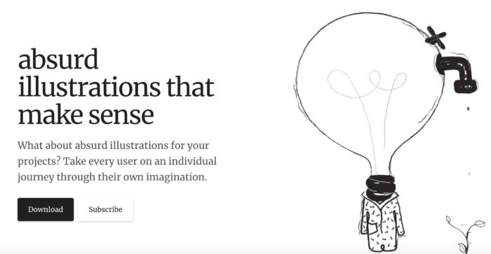 Sosyal Medya'da kullanabileceğiniz 11 ücretsiz illüstrasyon kaynağı-Absurd Design